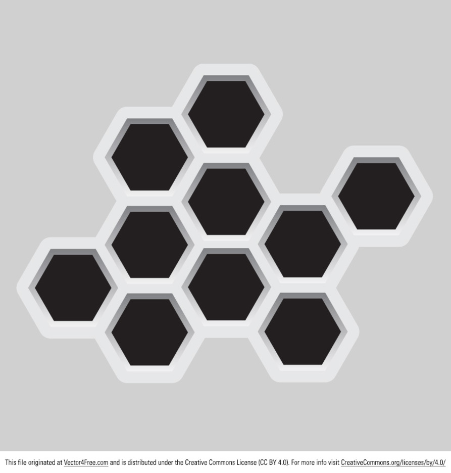 Abstract Hexagonal Vector