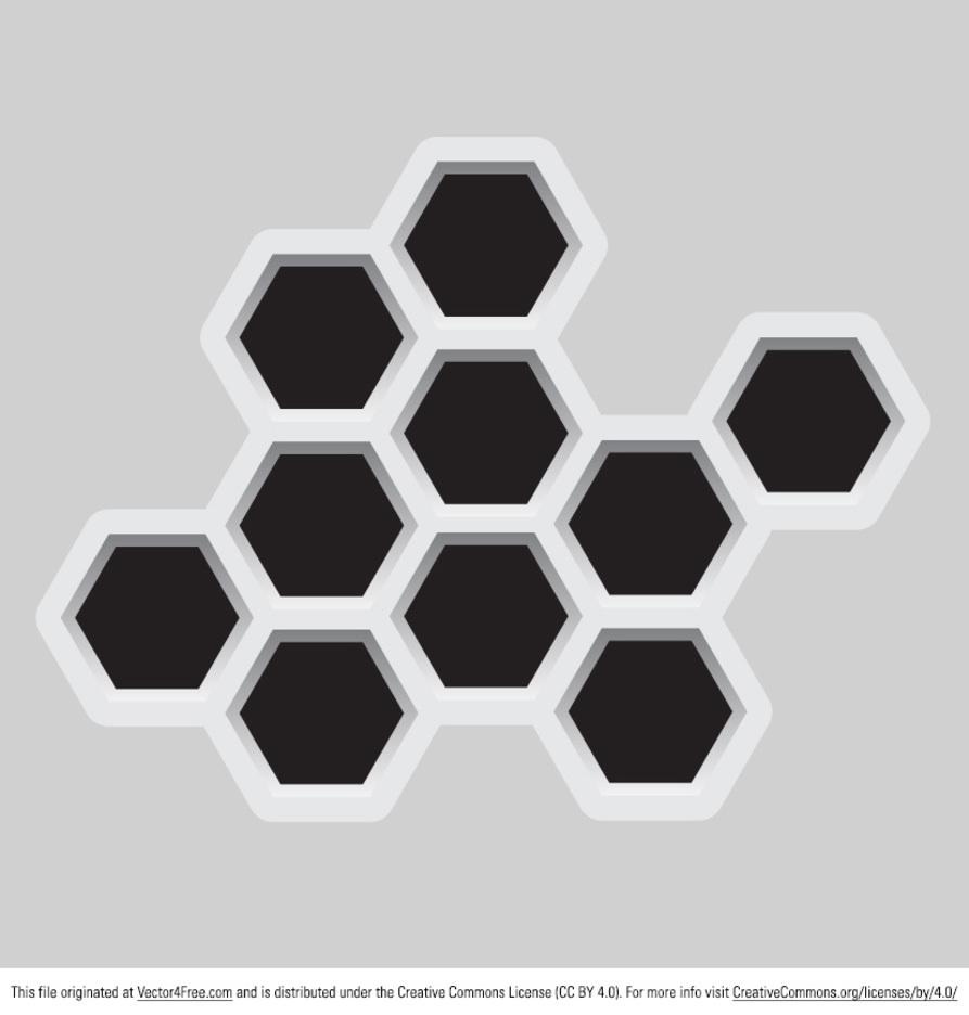 Abstract Hexagonal Vector