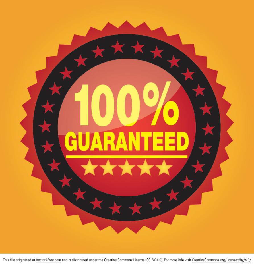 100% Guaranteed Badge Vector