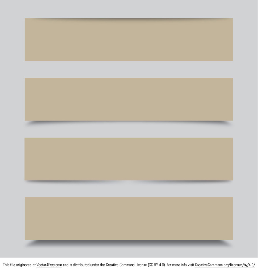 Simple Beige Banner Vectors