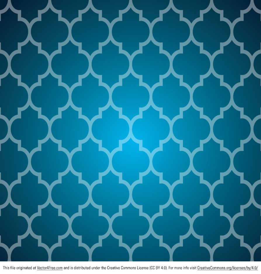 Blue Tile Pattern Vector
