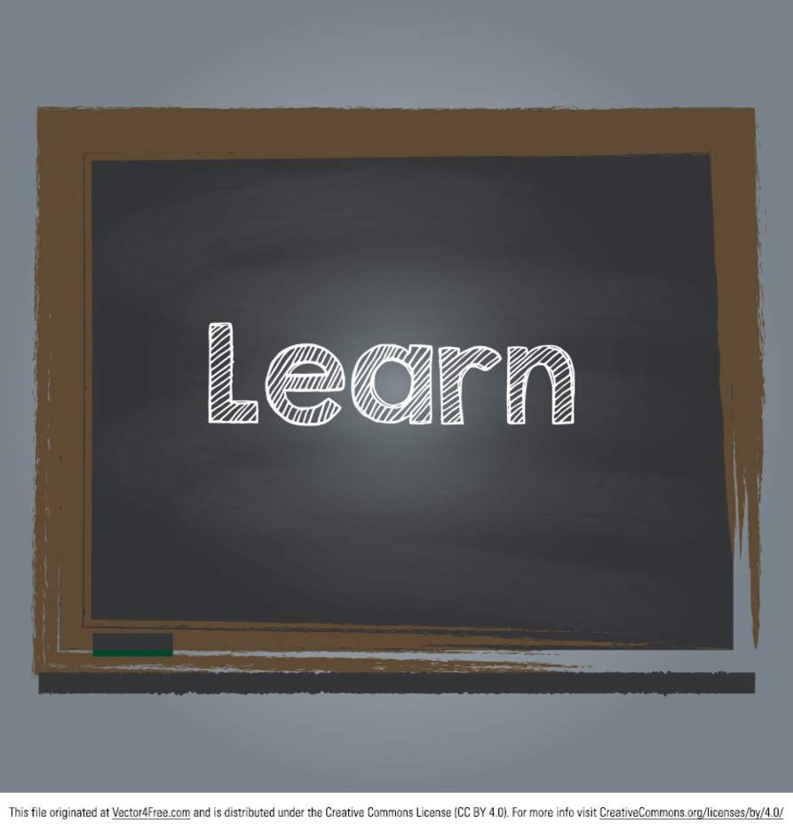 Learn Chalkboard Vector