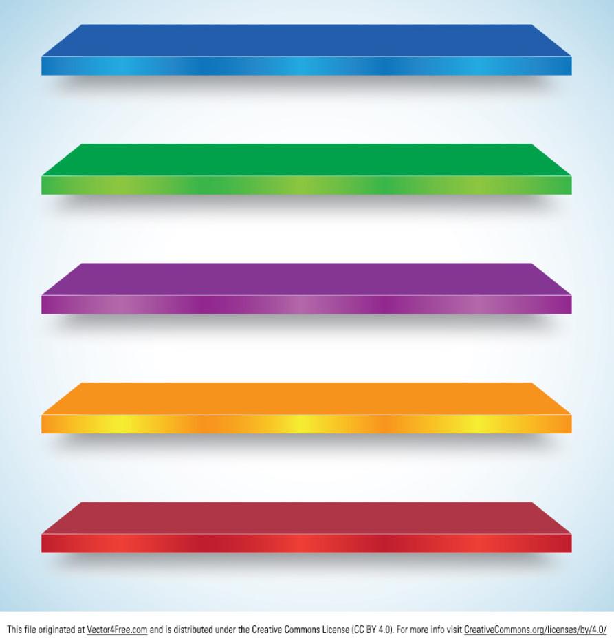 Colorful Shelf Vectors