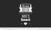 Free Beer Typographic Vector