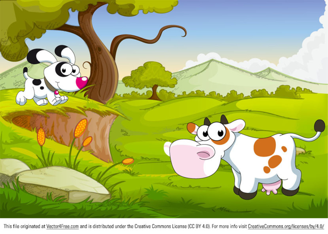 Cartoon Farm Animals Vector Illustration