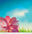 Pink Flower Vector Background