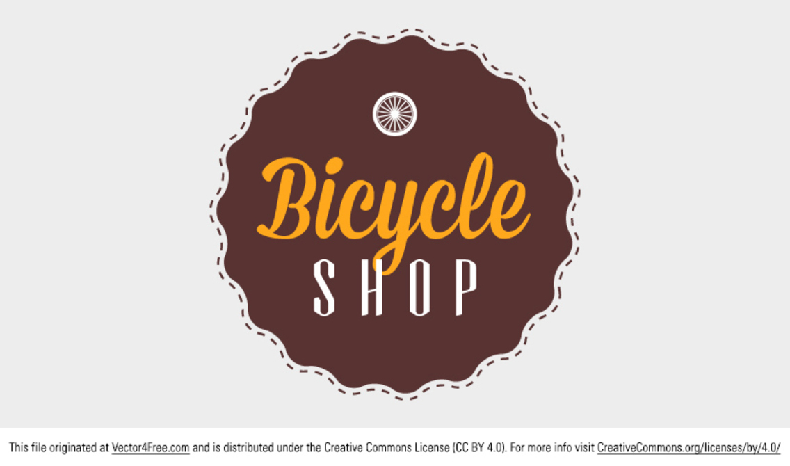 Bicycle Shop Badge Vector
