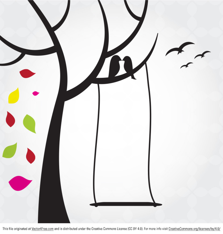 Birds in Tree Vector
