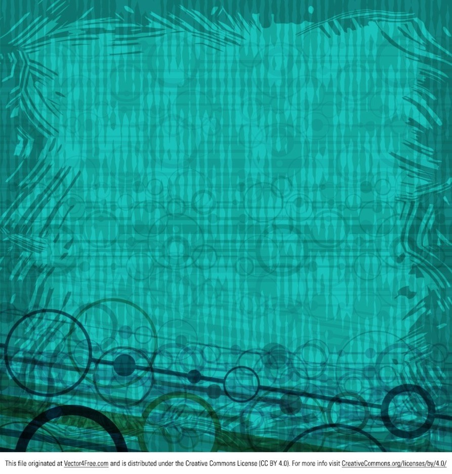Abstract Teal Circle Background Vector