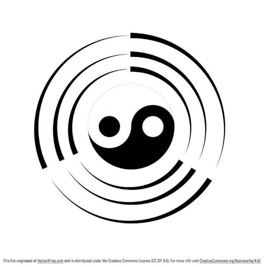 Tai Chi Ying Yang Vector Symbol