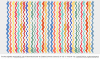 Colorful Wavy Line Vector Background