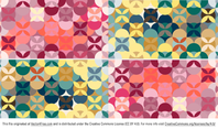Free Retro Patterned Background Vector