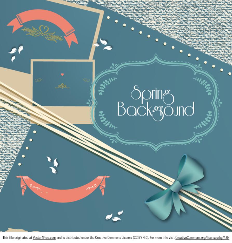 Spring Scrapbook Vector