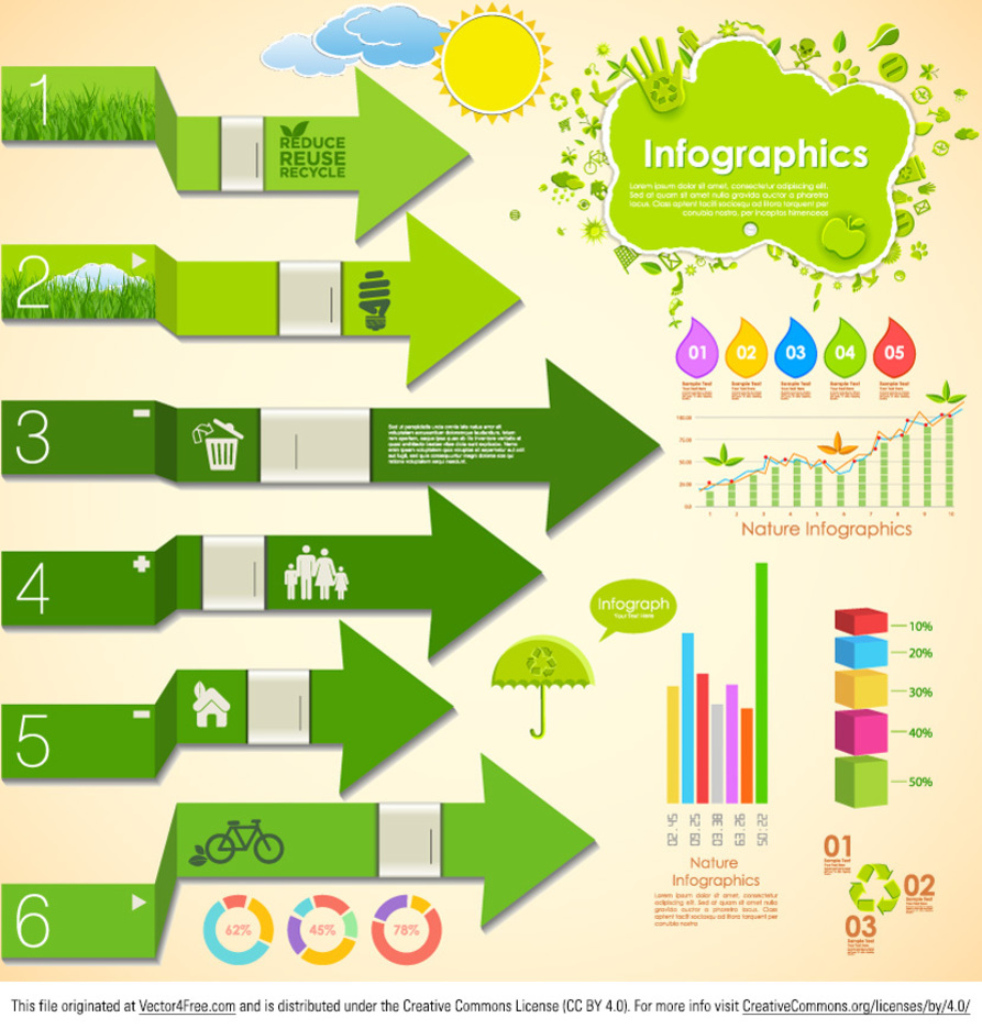 Nature Infographic Vector
