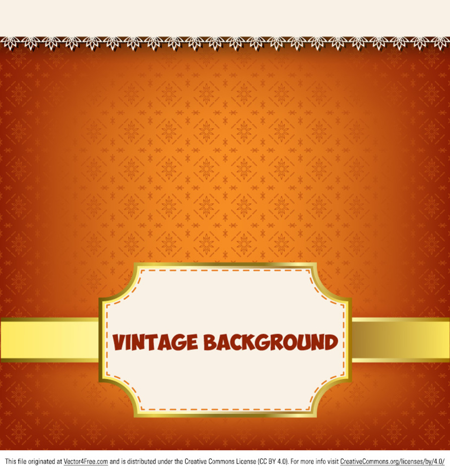 Glowing Vintage Label Background Vector