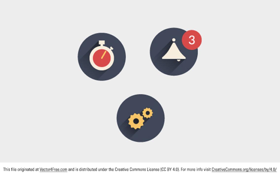 Flat Shaded Icon Vectors