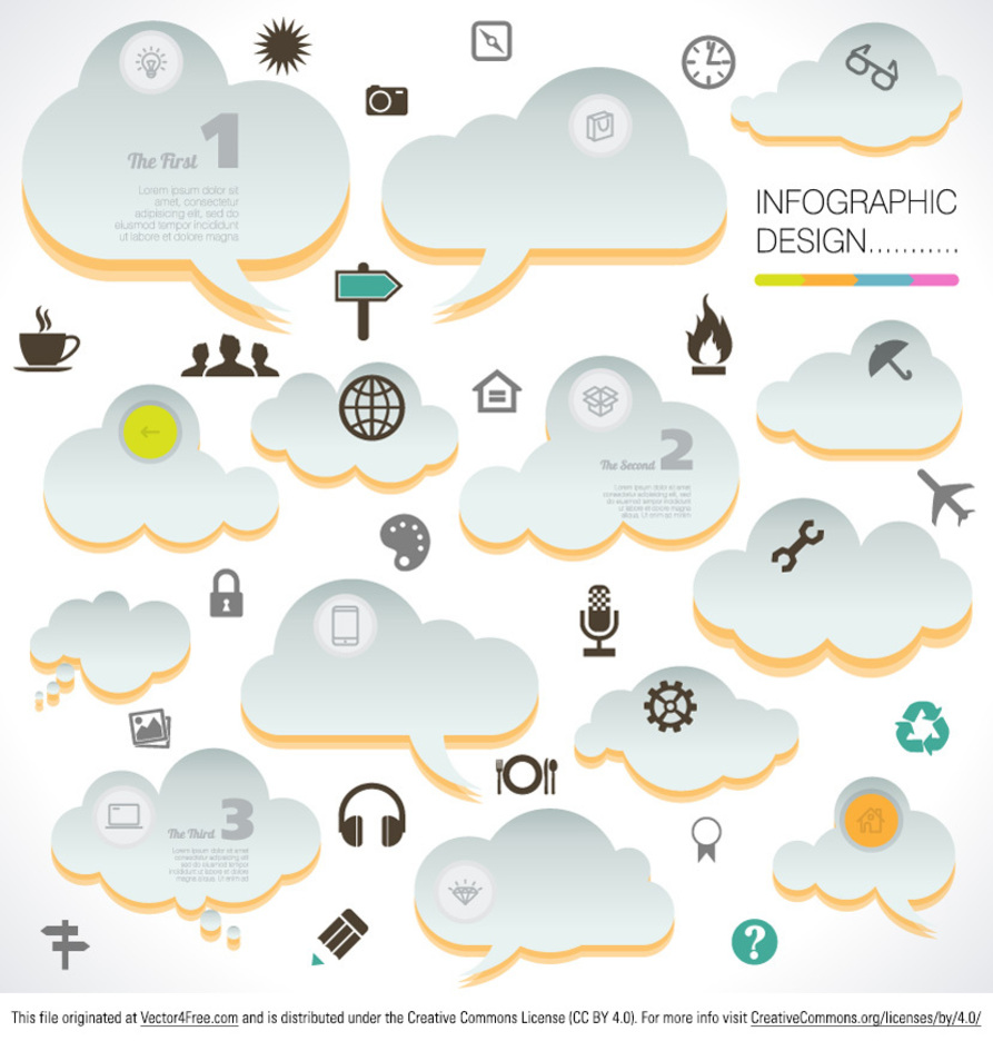 Cloud Infographic Vectors