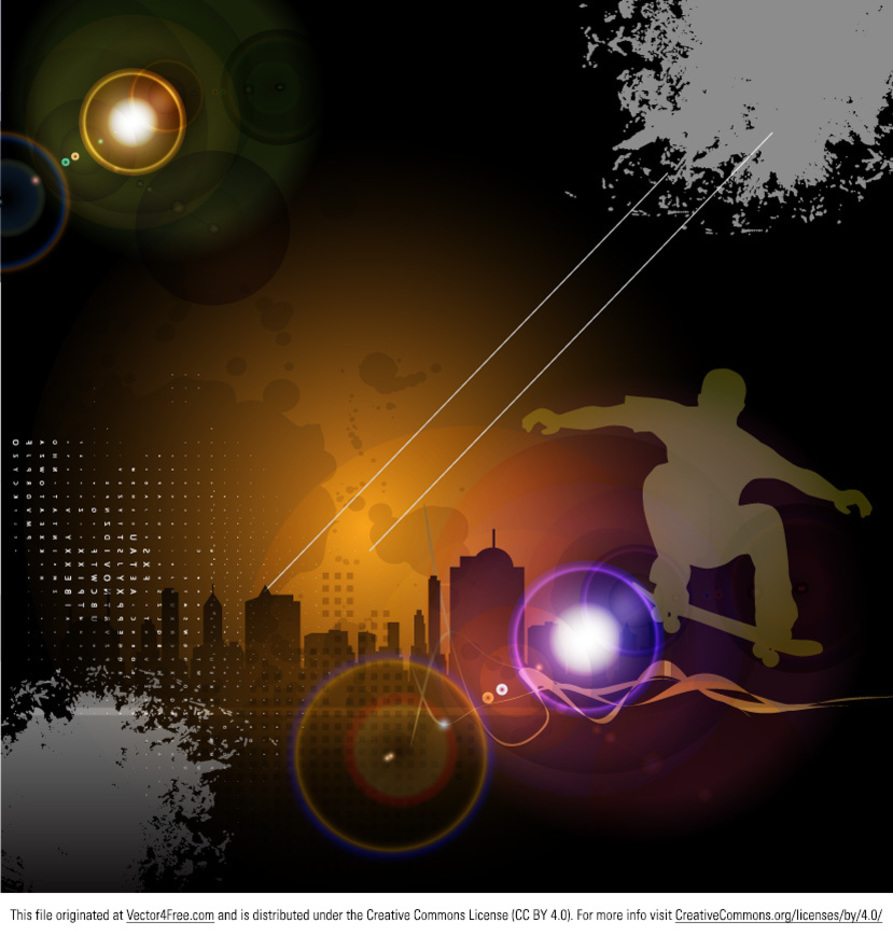 Urban Skateboard Background Vector