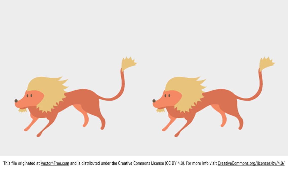 Lion Vector Cartoon