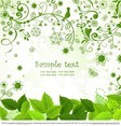 Flourish Leaf Background Vector