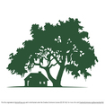 Oak Tree Vector & Cabin Silhouette Vector