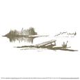 Serene Lakeside Dock Vector