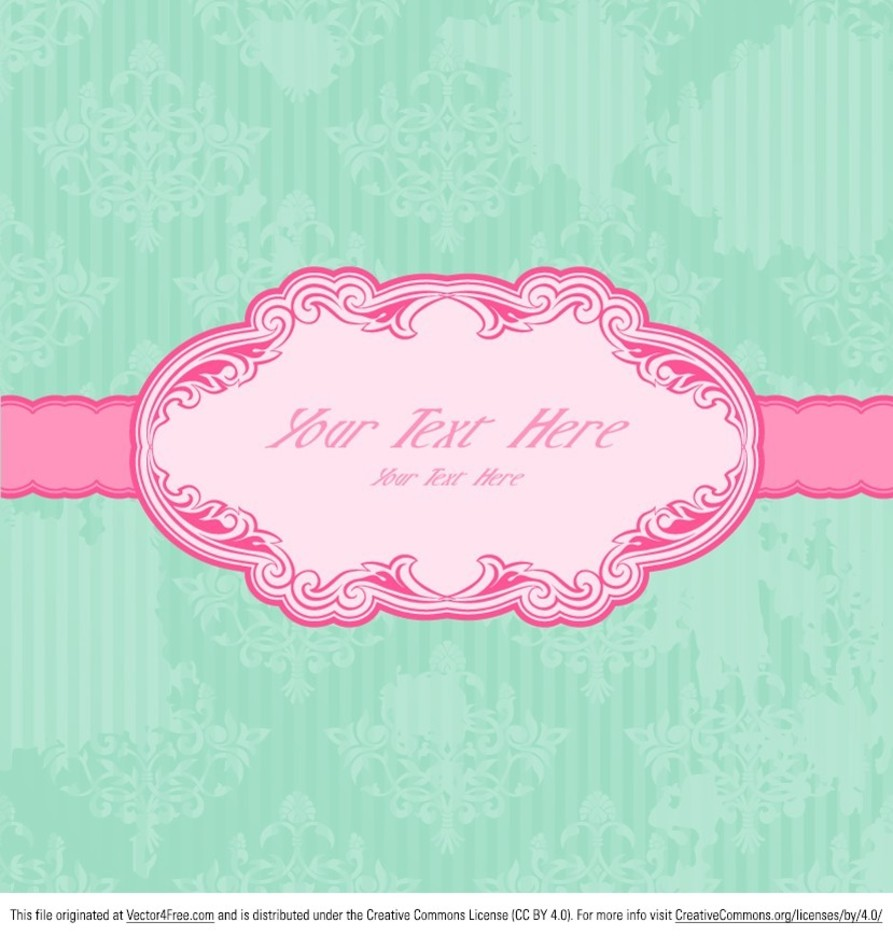 Pink Vintage Label Vector