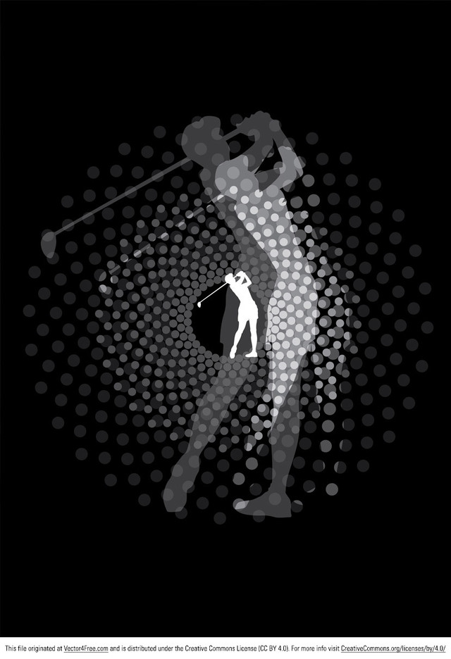 Golfer Vector Silhouette