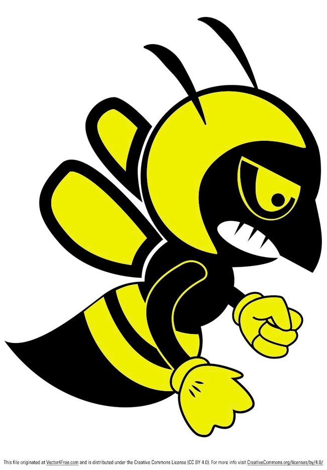 Fighting Bee Vector