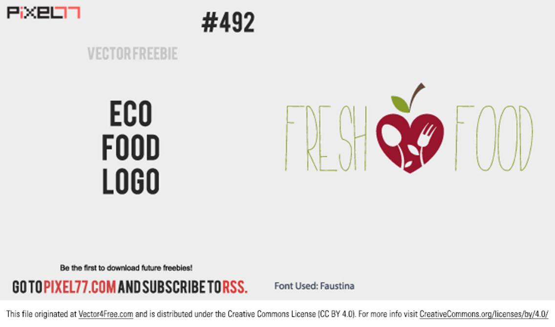 Fresh Food Logo Vector