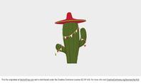 Festive Cactus Vector
