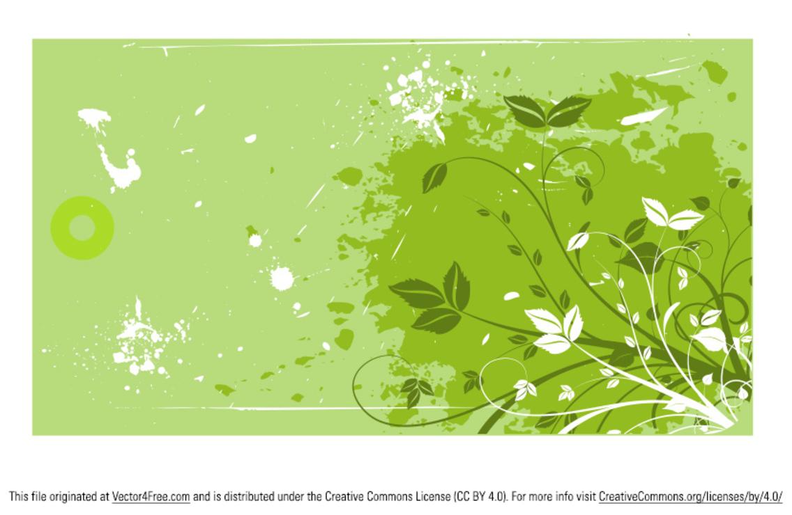 Grunge Swirl Leaf Vector