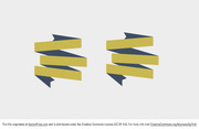Gold and Navy Ribbon Vector