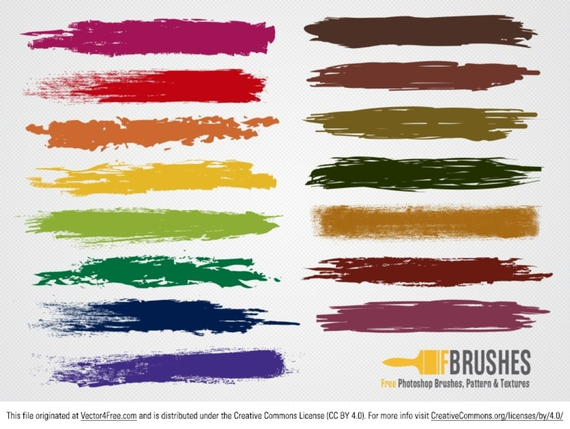 Colorful Brush Vectors