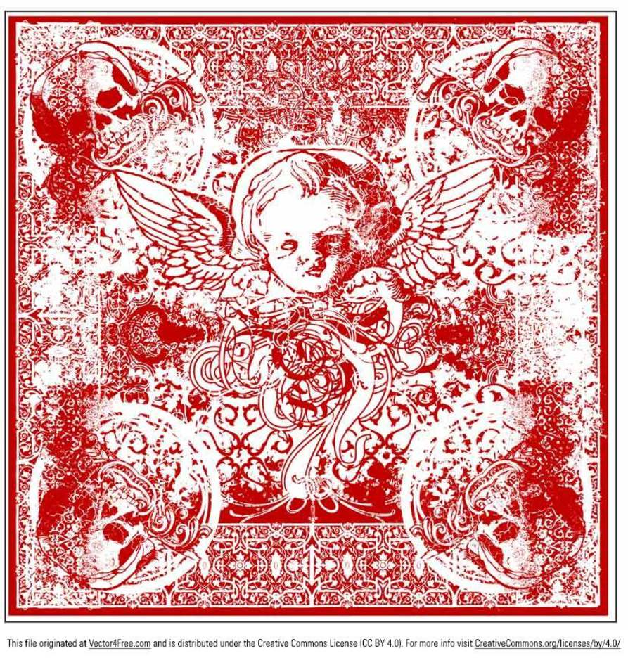 Wicked Cherub Bandana Vector
