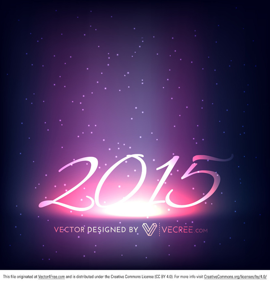 2015 Happy New Year Free Vector