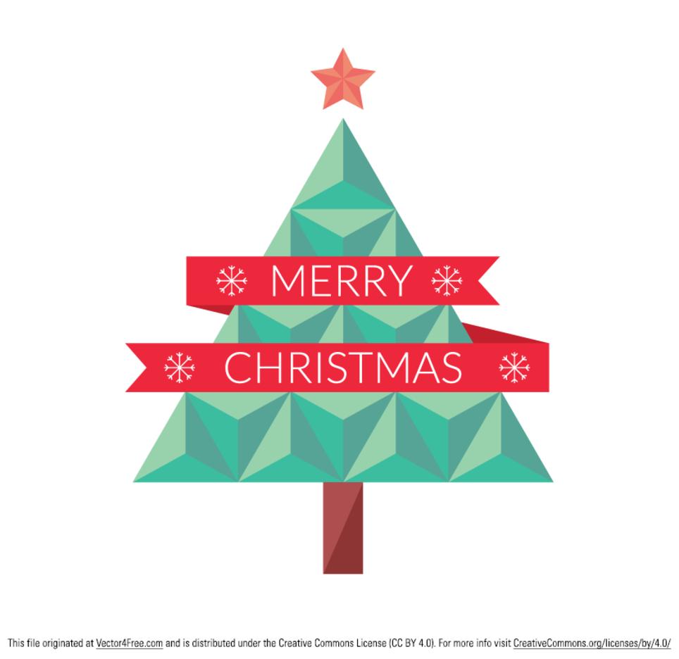 Flat Geometric Christmas Tree