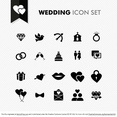 Wedding Icon Vector Set