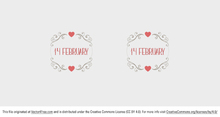Valentine's Day Label Vector
