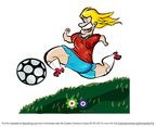 Free Vector Cartoon Soccer Player Girl