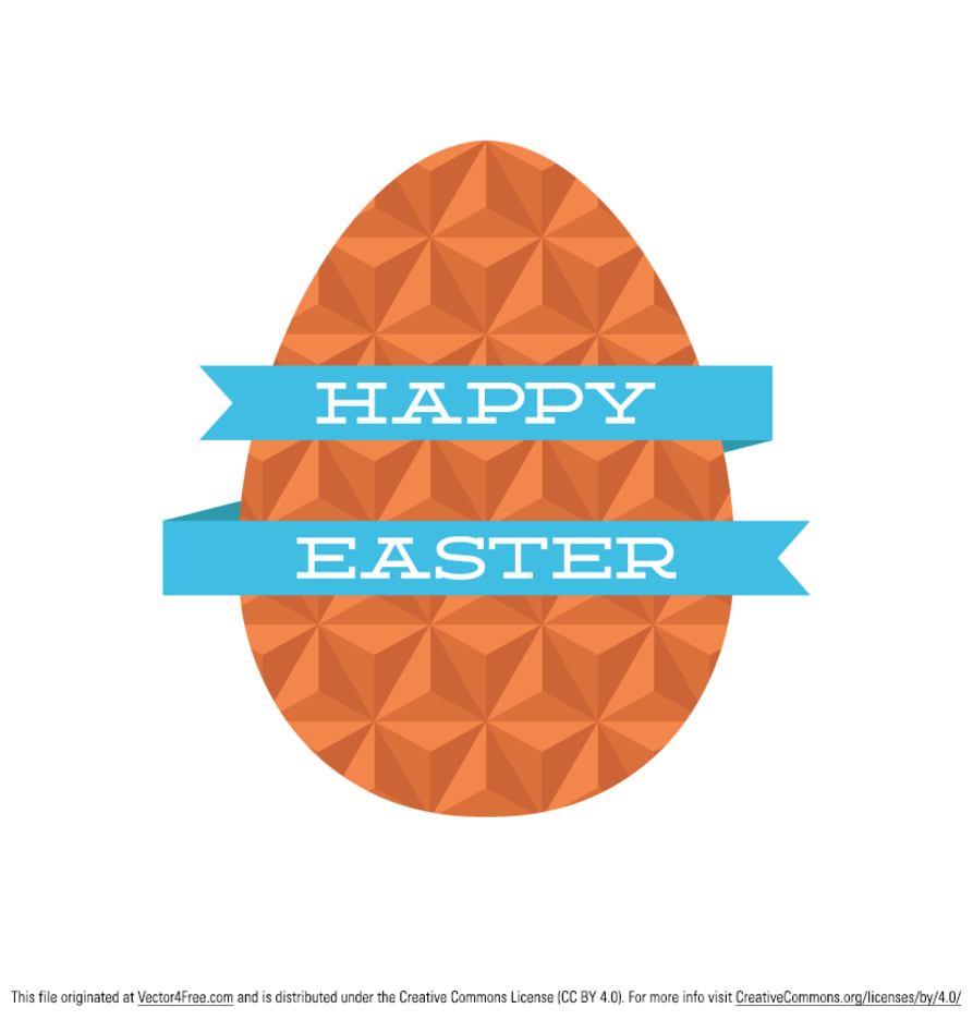 Free Flat Geometric Easter Egg Vector