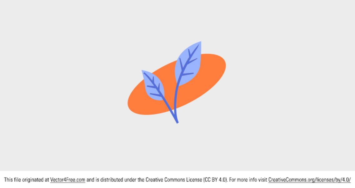 Free Vector Simple Leaf