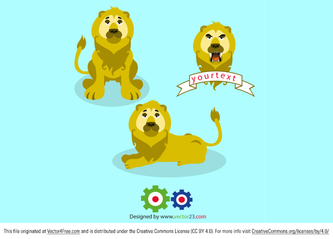 Free Vector Lion Pack