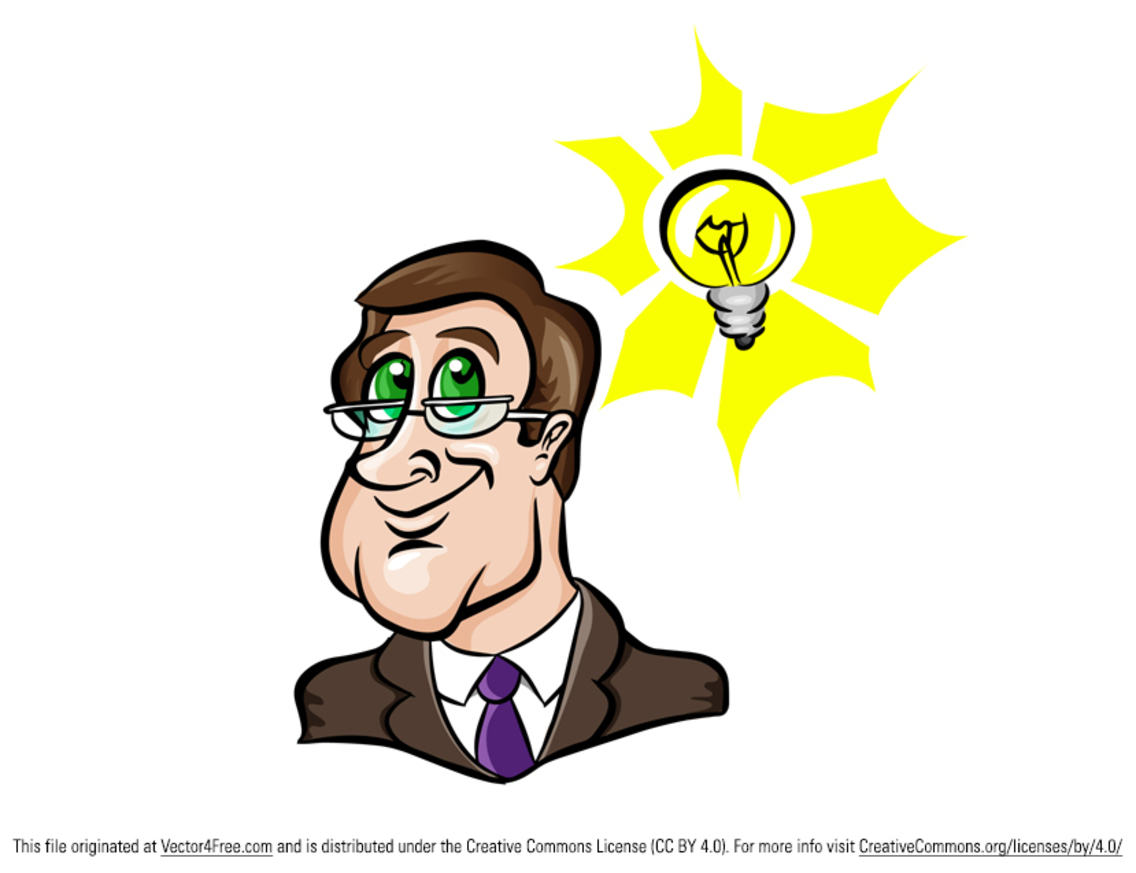 Free Vector Man with Idea