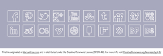 Free Vector White Line Colour Icons Set