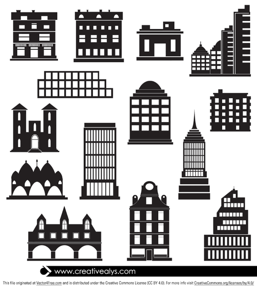 14 Free Vector Buildings