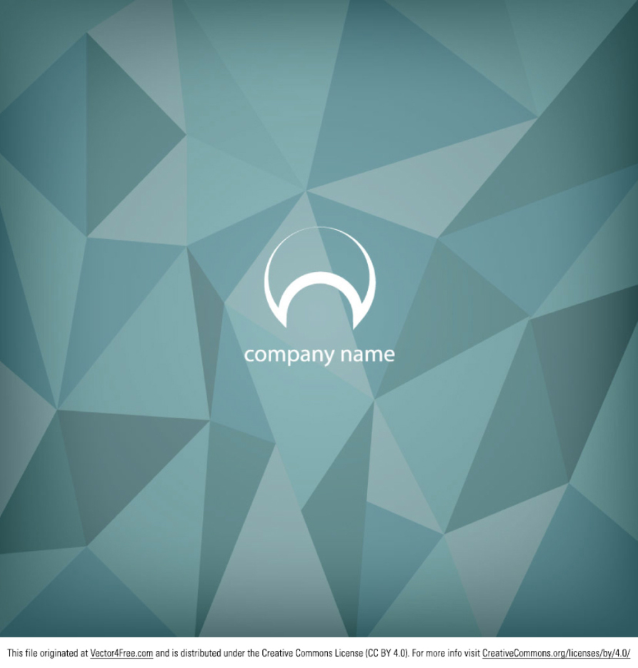 Free Blue Abstract Polygonal Background Design