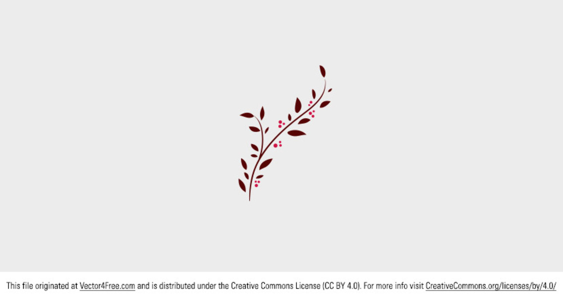 Free Decorative Doodle Branch Vector