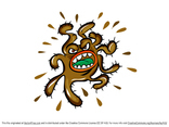 Free Vector Virus Cartoon