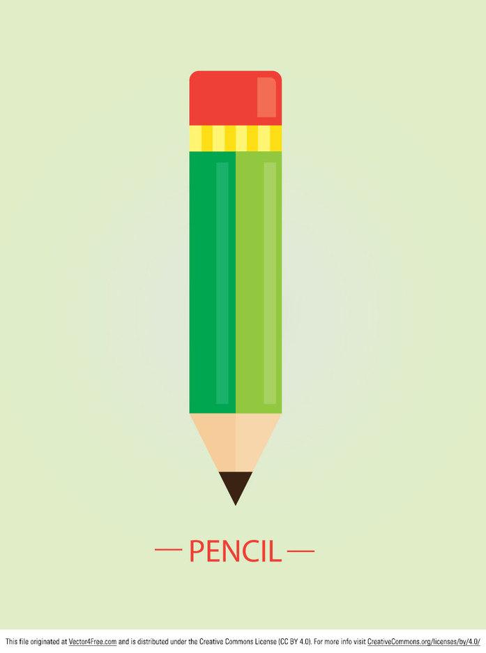 Free Flat Vector Pencil